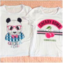 Dupla de Blusas Panda e Cereja - 16 anos - Não informada