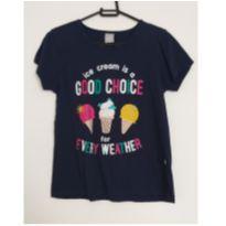 Blusa azul Sorvete  - Good Choise - 12 anos - Hering Kids