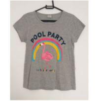 Blusa cinza Pool Party - 12 anos - Hering Kids