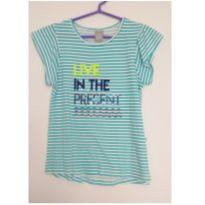 Blusa azul Live in the Present - 12 anos - Hering Kids
