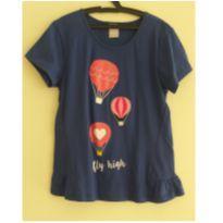 Blusa azul escuro balões - 12 anos - Hering Kids