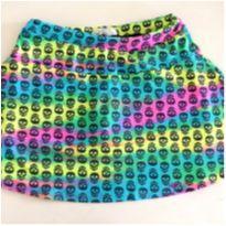 Shorts saia colorido caveira - 12 anos - Papillon