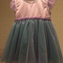 Vestido Tema Sereia tamanho 1 - 1 ano - Feito à mão e Sem marca