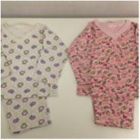 2 Pijamas em Flanela Estampados tamanho 1 - 1 ano - Massefoni