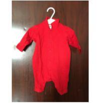 Macacão h&m vermelho - 0 a 3 meses - H&M