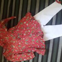 Conjunto blusa e calça branca nunca usado! - 6 a 9 meses - Chicletaria