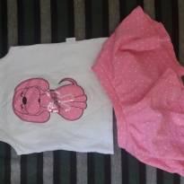 Conjuntinho camiseta e sainha lindo! - 6 a 9 meses - Pulla Bulla