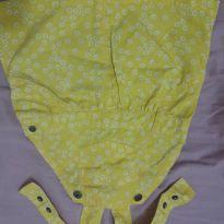Jardineira amarela fofinha - 6 a 9 meses - Hering Kids