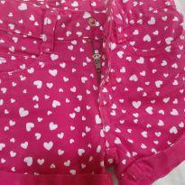 Short rosa com corações - 1 ano - Pool Kids