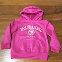 Moletom rosa, da cidade de São Francisco - California - 3 anos - Não informada