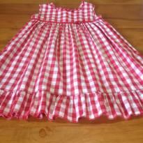 lindo vestido xadrez vermelho e branco - 3 anos - EPK