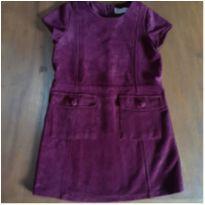 vestido zara em camurça - 5 anos - Zara Girls