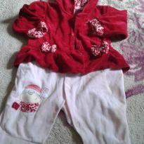 macacao vermelho charmoso - 9 meses - Não informada