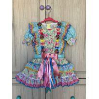 Vestido festa junina - 3 anos - Não informada
