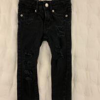 Calça jeans super skinny Levi's preta - 2 anos - Levi`s