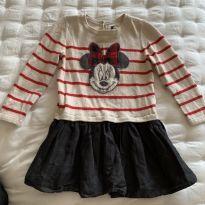 Vestido manga longa Minnie - 2 anos - Baby Gap