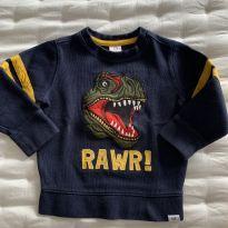 Moletom Dinossauro Marinho Baby GAP - 2 anos - Baby Gap