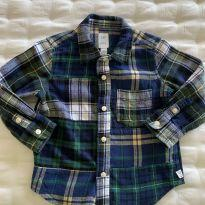 Camisa xadrez manga longa Baby GAP - 2 anos - Baby Gap