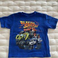 Camiseta manga curta Blaze - 3 anos - nickelodeon