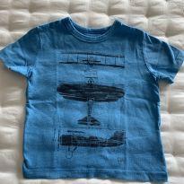 Camiseta avião Baby GAP - 2 anos - Baby Gap
