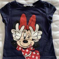 Camiseta Minnie Marinho H&M - 3 anos - H&M