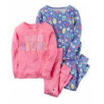 Kit  2 Pijamas Carter`s Sweet Dreams rosa e azul 2 anos