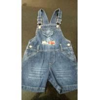 Jardineira Jeans carrinho - 3 anos - Não informada