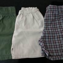 Kit com 3 shorts - 1 ano - Diversas e Carter`s