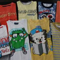 Lote com 9 camisetas manga curta - 1 ano - Diversas