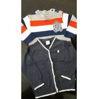 Kit com 2 blusinhas - 9 a 12 meses - Noruega Baby e Teddy Boom