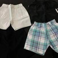Kit com 4 shorts - 1 ano - Diversos