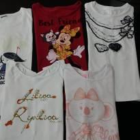 Kit com 5 blusinhas - 8 anos - Lilica Ripilica e Diversas
