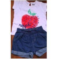 Camiseta Puc e Shorts Carinhoso tam. 1