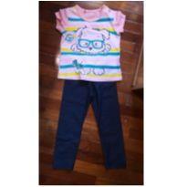 Camiseta e calça tam. 2 - 2 anos - Sem marca e Show da Luna