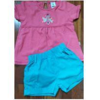 Camiseta e Shorts tam. 3 - 3 anos - PUC e Sem marca