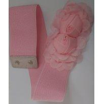 Cinto Elástico Floral Rosa - Sem faixa etaria - Importada
