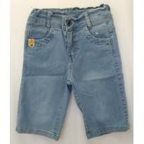 Bermuda Jeans Cintura Ajustável - 6 anos - Nacional