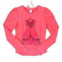 Blusa alongada  em cotton Rosa - 10 anos - Lilica Ripilica