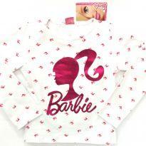 Blusa manga longa Barbie - 8 anos - Fakini