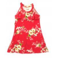 Vestido floral vermelho - 4 anos - Carinhoso