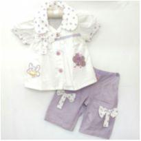 Conjunto Borboleta branco/lilás. - 4 anos - TROPP Kids