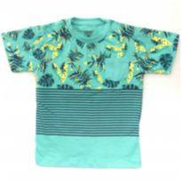 Camiseta tropical Verde - 6 anos - Gelly kids