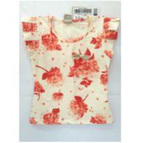 Blusinha floral creme - 6 anos - Marlan