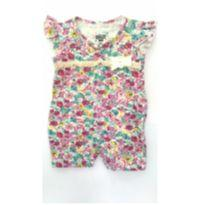 Macaquinho Baby floral - 3 meses - Gelly Baby