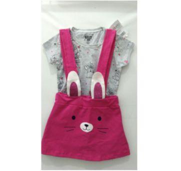 Conjunto Salopete coelhinha - 2 anos - Gelly Baby