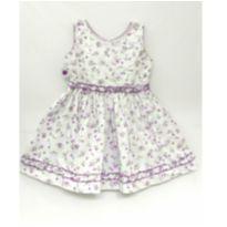 Vestido floral branco/lilás