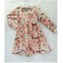 Vestido manga longa floral - 4 anos - Randa Mundu