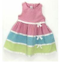 Vestido Tricolor Anarruga - 2 anos - Bonnie Jean