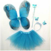 Fantasia Borboleta azul 04 Pç - 4 anos - Importada
