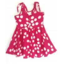 Vestido Rosa poá - 6 anos - Malwee